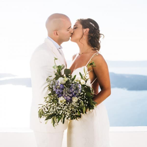 Natasha and Joshua - Santorini, Greece