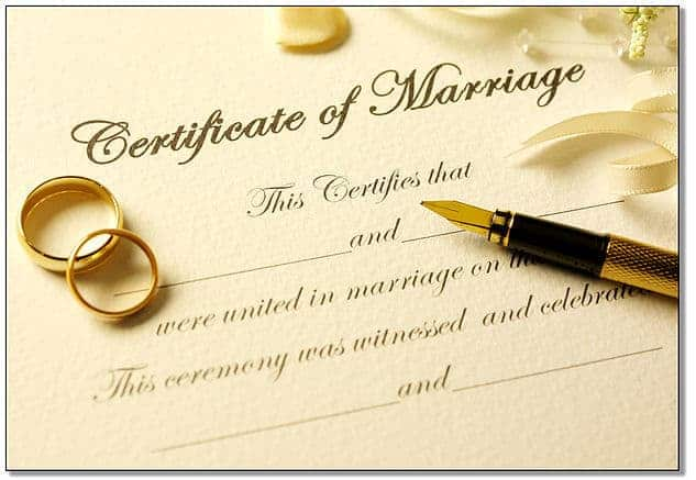 Applying for Your Marriage License