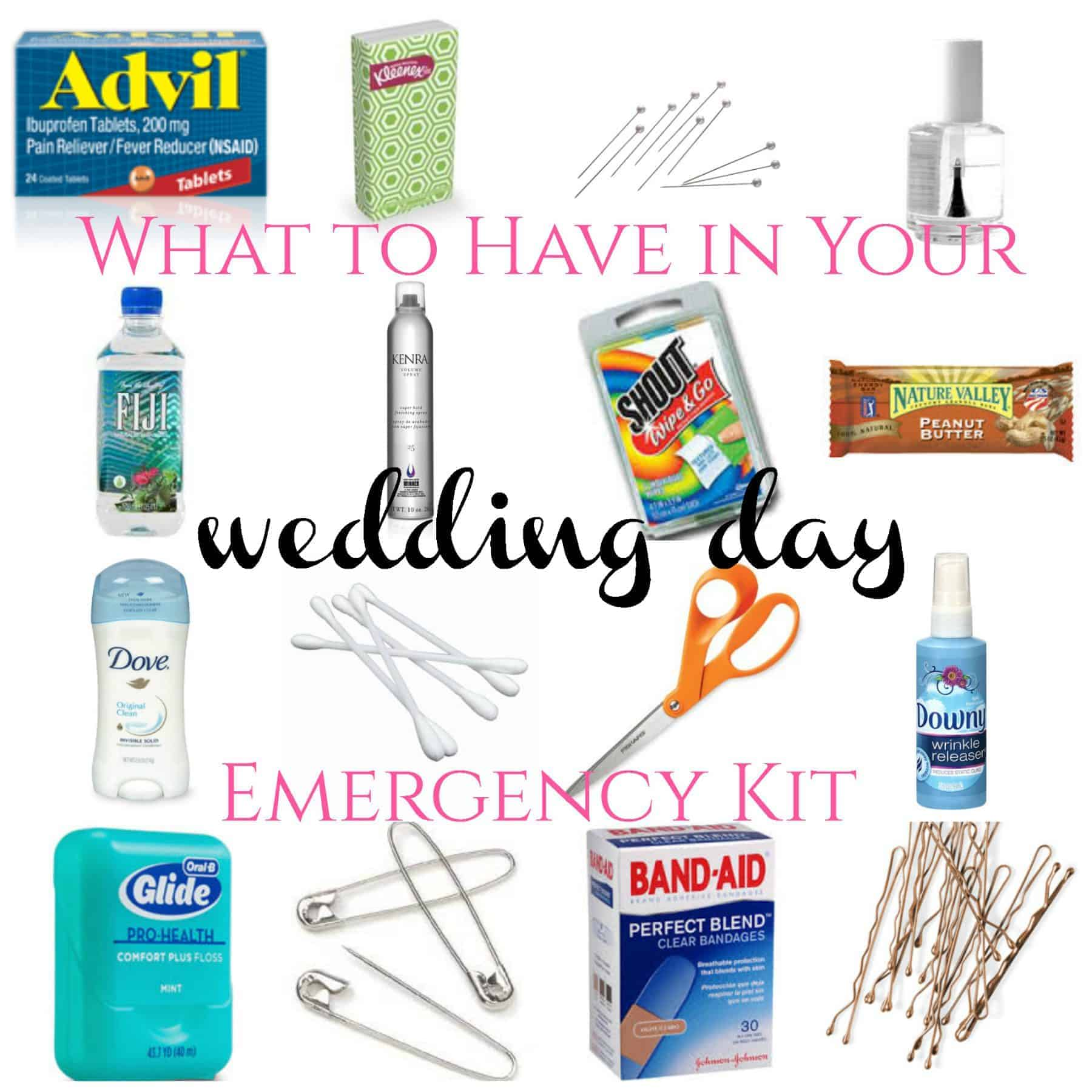 Why you need a Wedding Day Emergency Kit
